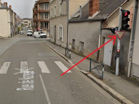 Tourne-à-droite vélo