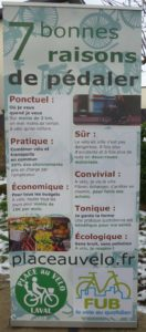Roll-up Place au Vélo