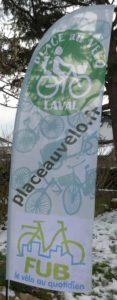 Banderole Place au Vélo
